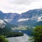 View of lake Hallstatt, Austria