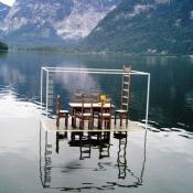 Boots on the lake Hallstatt Austria