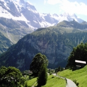 Hiking Trail between Murren and Gimmelwald