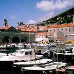 boats old city Dubrovnik