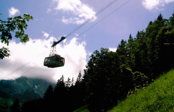 gondola Gimmelwald Switzerland